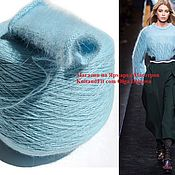 Материалы для творчества handmade. Livemaster - original item Yarn: Angora. Yarn down mink. Yarn Mink. Color turquoise.. Handmade.