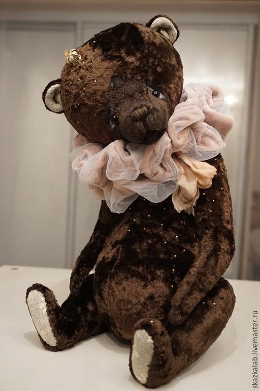 Мишки Тедди ручной работы. Ярмарка Мастеров - ручная работа. Купить Prince (35 см). Handmade. Коричневый, винтаж, опилки