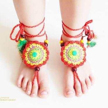 """Обувь ручной работы. Ярмарка Мастеров - ручная работа Украшение на ножки """" Афина """". Handmade."""