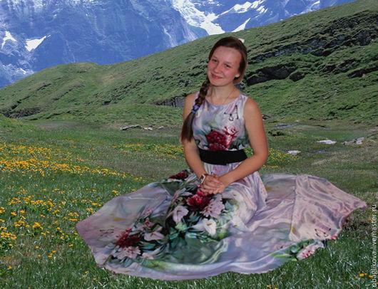 """Платья ручной работы. Ярмарка Мастеров - ручная работа. Купить платье """" Альпийский аромат"""". Handmade. Разноцветный, платье летнее"""
