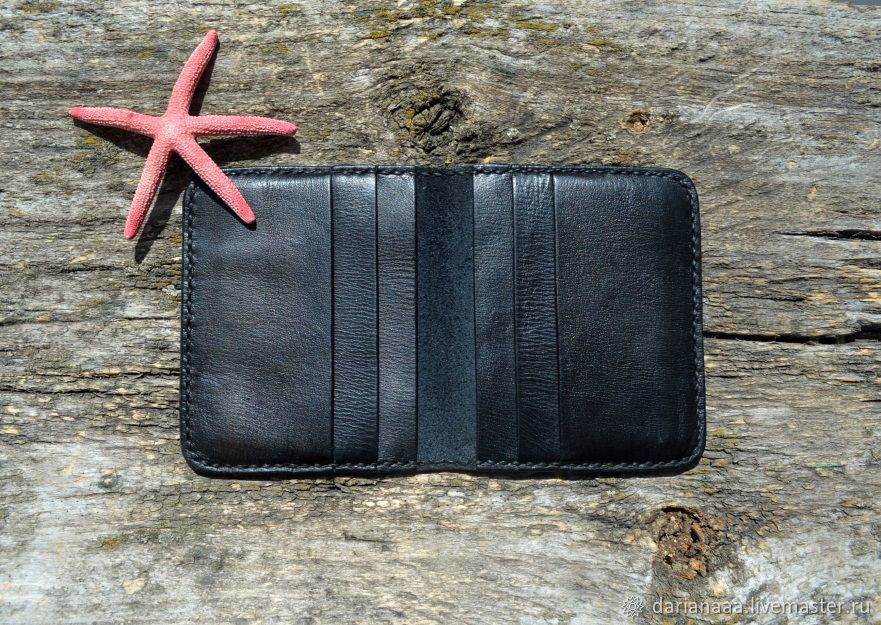 Mini wallet leather cardholder, Business card holders, Sizran,  Фото №1