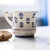 Посуда handmade. Livemaster - original item Forget-me-nots. Cup handmade ceramics. Handmade.