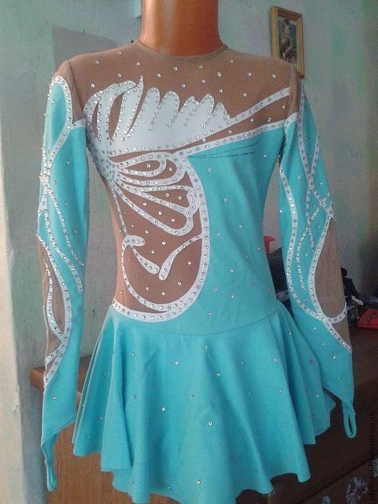 Спортивная одежда ручной работы. Ярмарка Мастеров - ручная работа. Купить Платье для фигурного катания на выступление. Handmade. Голубой