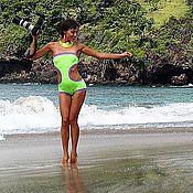 Одежда handmade. Livemaster - original item swimsuit shorts light green with violet and light green with black. Handmade.