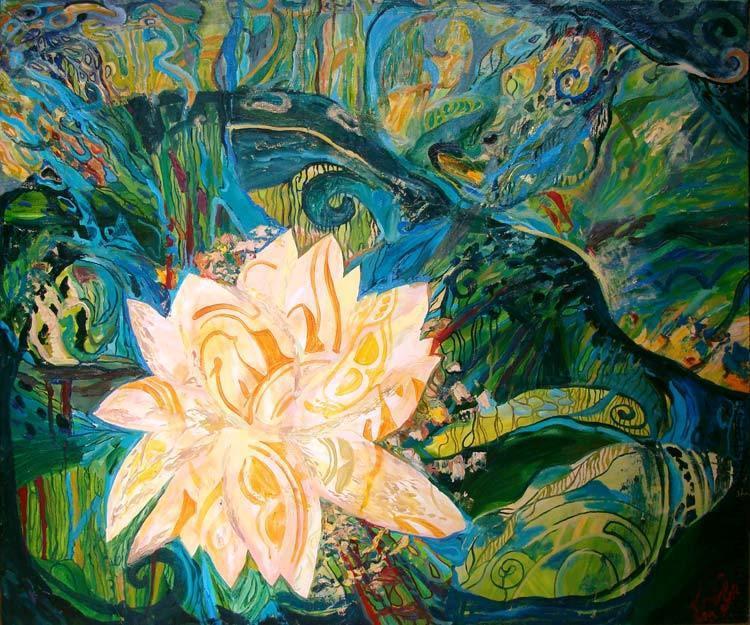 Botanical garden the artwork by Olga Petrovskaya-Petovraji