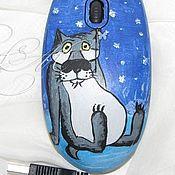 """Сувениры и подарки ручной работы. Ярмарка Мастеров - ручная работа Мышка компьютерная """"Жил был Пёс"""" (волк сидя). Handmade."""