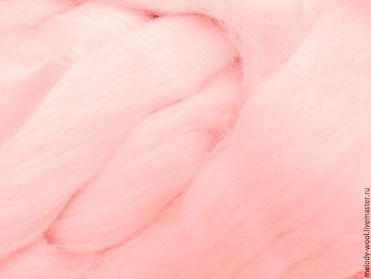 Валяние ручной работы. Ярмарка Мастеров - ручная работа. Купить Шелк Тусса. Цвет Пудра (Powder). Handmade. Бледно-розовый