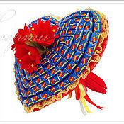 Съедобные букеты ручной работы. Ярмарка Мастеров - ручная работа Букет Сердце из жвачек Love is. Handmade.