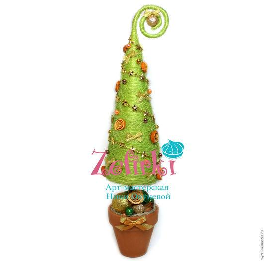 Новый год 2017 ручной работы. Ярмарка Мастеров - ручная работа. Купить Оригинальная новогодня ёлка подарок на Новый Год 2016 ель ёлочка ёлки. Handmade.