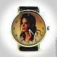 Оригинальные дизайнерские наручные часы ручной работы `Майкл Джексон`