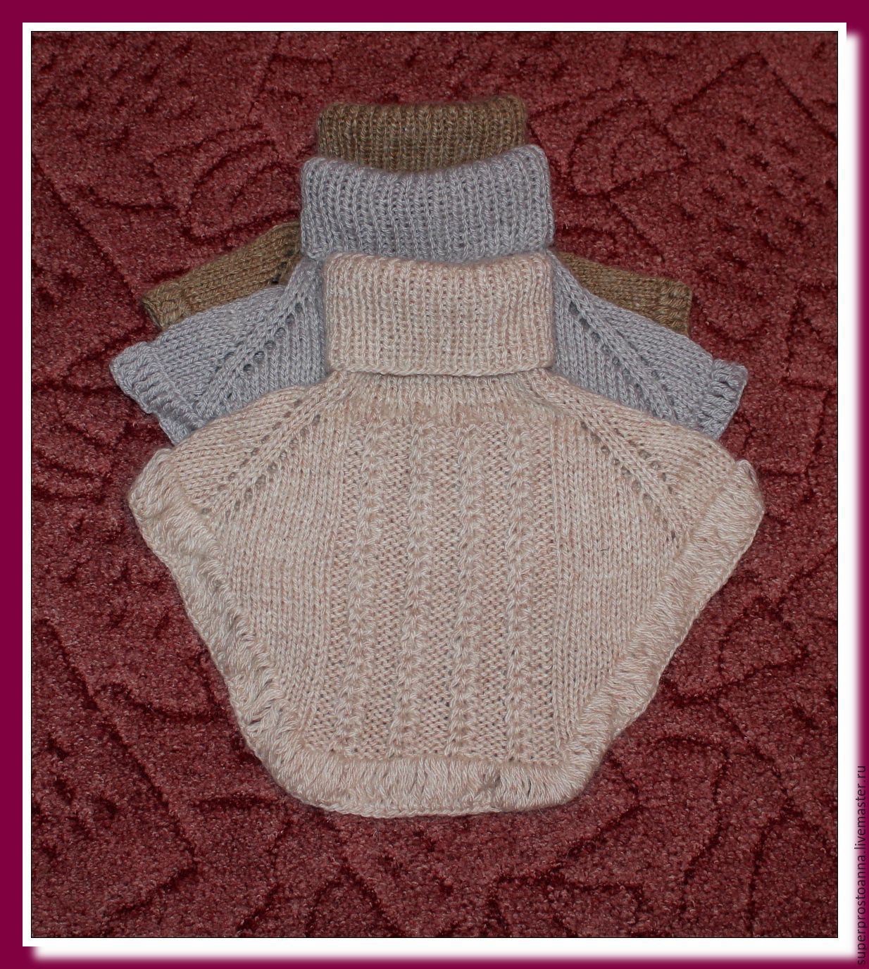 Манишка для мальчика спицами, схема вязания для 46
