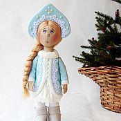 Куклы и игрушки ручной работы. Ярмарка Мастеров - ручная работа Снегурочка. Коллекционная текстильная кукла.. Handmade.