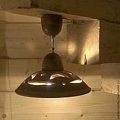 Для дома и интерьера handmade. Livemaster - original item Ceramic lamp on a short rigid suspension.. Handmade.