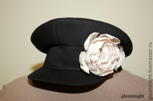 Шляпы ручной работы. Ярмарка Мастеров - ручная работа. Купить Картуз. Handmade. Черный, женский картуз, вискоза