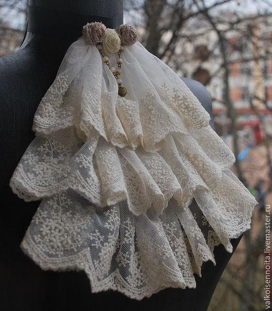 """Воротнички ручной работы. Ярмарка Мастеров - ручная работа. Купить Кружевное жабо """" Bridal Veil """". Handmade. Жабо"""