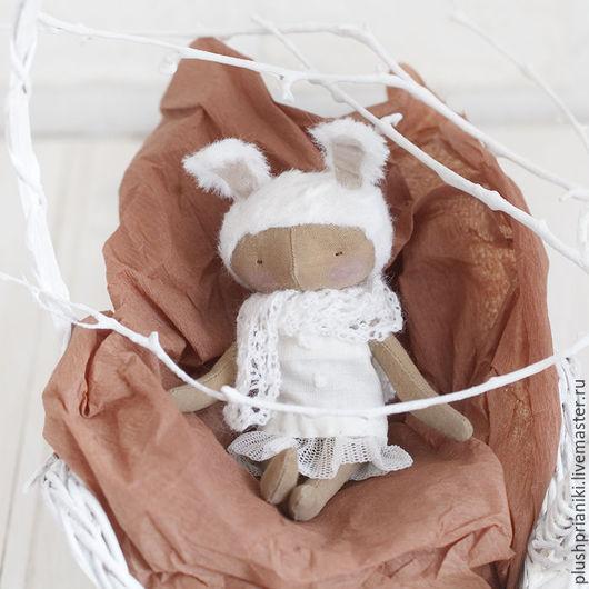 """Куклы тыквоголовки ручной работы. Ярмарка Мастеров - ручная работа. Купить Ванилька Зайка - из серии """"ванильки"""", текстильная коллекционная кукла. Handmade."""