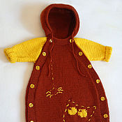 Работы для детей, ручной работы. Ярмарка Мастеров - ручная работа Вязаный конверт для новорожденного Лунный свет. Handmade.