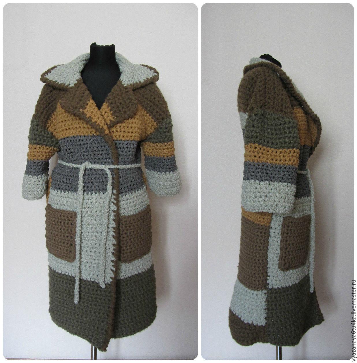 Knit coat 'Colors mustard', Coats, Moscow,  Фото №1