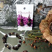 Украшения ручной работы. Ярмарка Мастеров - ручная работа Комплект браслет и серьги из граната. Handmade.