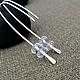 Серьги из серебра и кристаллов