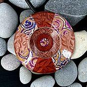 Украшения handmade. Livemaster - original item Pendant from polymer clay - Boho-UFO (copper, stylish). Handmade.