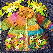 """Верхняя одежда ручной работы. Ярмарка Мастеров - ручная работа Детское пальто """"Мандарины"""". Handmade."""