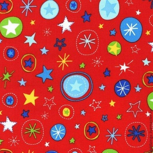 """Шитье ручной работы. Ярмарка Мастеров - ручная работа. Купить №428 американский хлопок """"Звезды красные"""". Handmade. Американские ткани"""