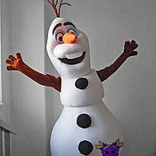 "Дизайн и реклама handmade. Livemaster - original item Snowman Olaf ""Frozen"". Life-size puppet. Handmade."