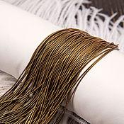 Канитель ручной работы. Ярмарка Мастеров - ручная работа Канитель мягкая гладкая античное  золото, 1 мм. Handmade.