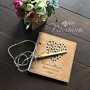 Свадебный салон handmade. Livemaster - original item Book wishes wooden. Sea. Handmade.