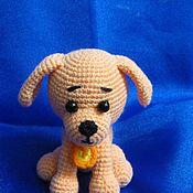 Куклы и игрушки ручной работы. Ярмарка Мастеров - ручная работа собачка Пуговка. Handmade.