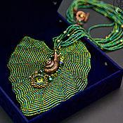 "Pendants handmade. Livemaster - original item Кулон ""Последний лист лета"". Handmade."