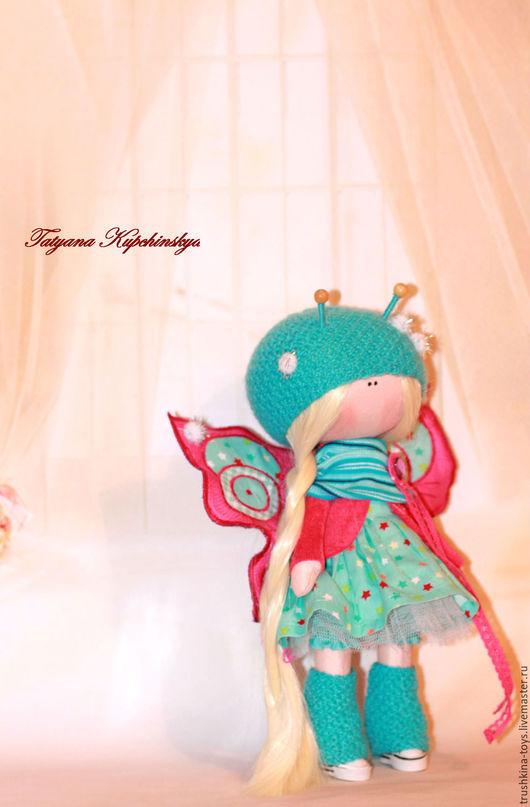 Куклы тыквоголовки ручной работы. Ярмарка Мастеров - ручная работа. Купить Куколка Бабочка. Handmade. Кукла ручной работы, кукла