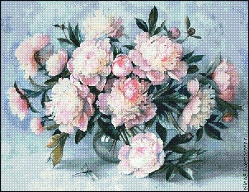 Схема вышивки цветы купить