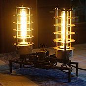 Для дома и интерьера ручной работы. Ярмарка Мастеров - ручная работа Настольная лампа в стиле стимпанк. Handmade.