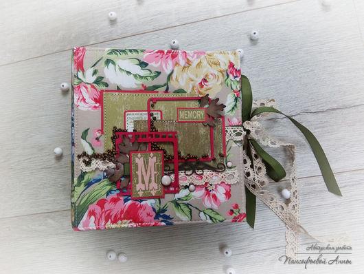 """Персональные подарки ручной работы. Ярмарка Мастеров - ручная работа. Купить Альбом """" Яркие воспоминания"""" в коробке. Handmade."""