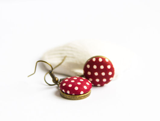 Серьги ручной работы. Ярмарка Мастеров - ручная работа. Купить Серьги в стиле pin-up. Handmade. Бордовый, серьги в подарок