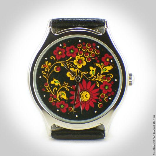 """Часы ручной работы. Ярмарка Мастеров - ручная работа. Купить Часы наручные """"Хохлома"""". Handmade. Часы, наручные часы"""