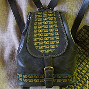 Сумки и аксессуары ручной работы. Ярмарка Мастеров - ручная работа Тёмно-зелёный с бабочками. Handmade.
