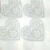 """Для дома и интерьера ручной работы. Ярмарка Мастеров - ручная работа скатерть+ салфетки  """"Морозные узоры"""". Handmade."""