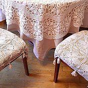 Для дома и интерьера ручной работы. Ярмарка Мастеров - ручная работа Накидка на стул интерьерная. Handmade.