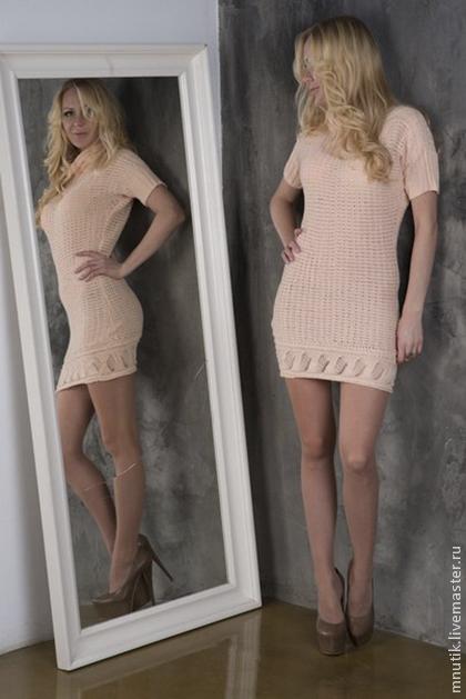 Платья ручной работы. Ярмарка Мастеров - ручная работа. Купить Вязаное платье. Handmade. Кремовый, полиамид 40%