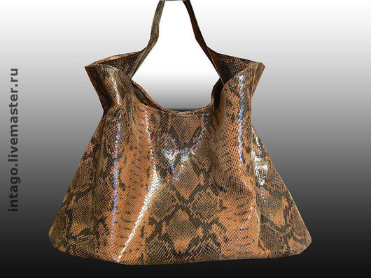 Handbags handmade. Livemaster - handmade. Buy Handbag made of leather. Manual 'Python'..Genuine leather, under the reptile
