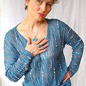 """Одежда ручной работы. Ярмарка Мастеров - ручная работа Джемпер """"Голубой топаз"""". Handmade."""