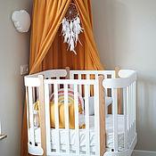 Для дома и интерьера handmade. Livemaster - original item CANOPY OF AIRY MUSLIN-TENT MUSTARD FOR CHILDREN. Handmade.