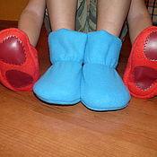 Обувь ручной работы. Ярмарка Мастеров - ручная работа Домашние теплые тапочки-сапожки. Handmade.