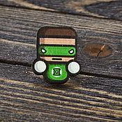 Украшения handmade. Livemaster - original item Wooden icon Green Lantern. Handmade.