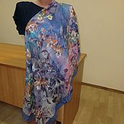 Платки ручной работы. Ярмарка Мастеров - ручная работа 10664 платок Павловопосадский 115 из разряженной ткани. Handmade.
