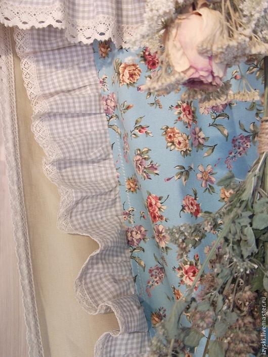 """Текстиль, ковры ручной работы. Ярмарка Мастеров - ручная работа. Купить Шторы """"..из истории одного дома"""". Handmade. Голубой"""