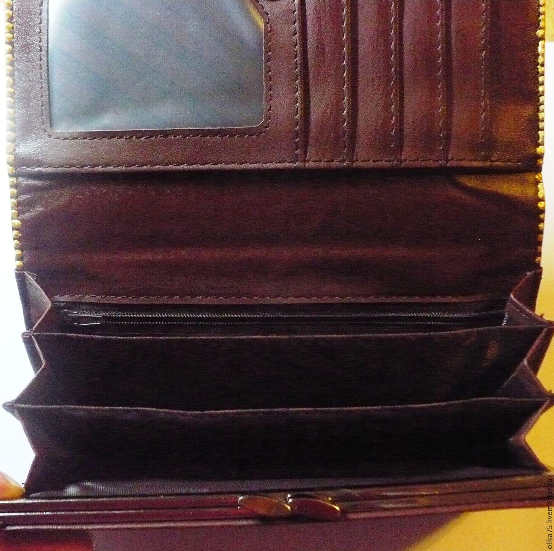 171ca14944ba Кошелек женский коричневый – купить в интернет-магазине на Ярмарке ...